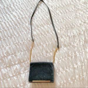 Blue Velvet Crossbody Bag